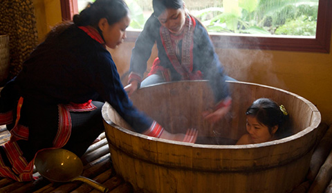 Try the Dao people's herbal bath recipe